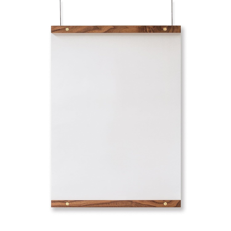 Amazon com goldleaf poster hanging rail set minimalist wood frame for hanging 18 wide art prints signs maps black walnut with brass hardware