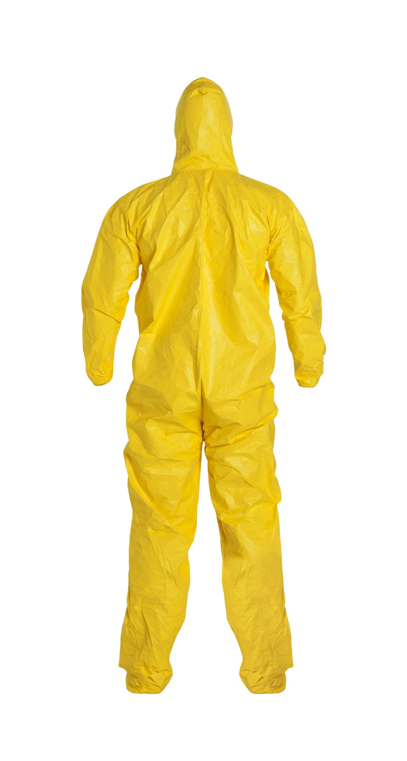 DuPont Tychem 2000 QC122S  Chemical Resistant Coverall with Hood and Socks, Disposable, Elastic Cuff, Yellow, X-Large (Pack of 12) by DuPont