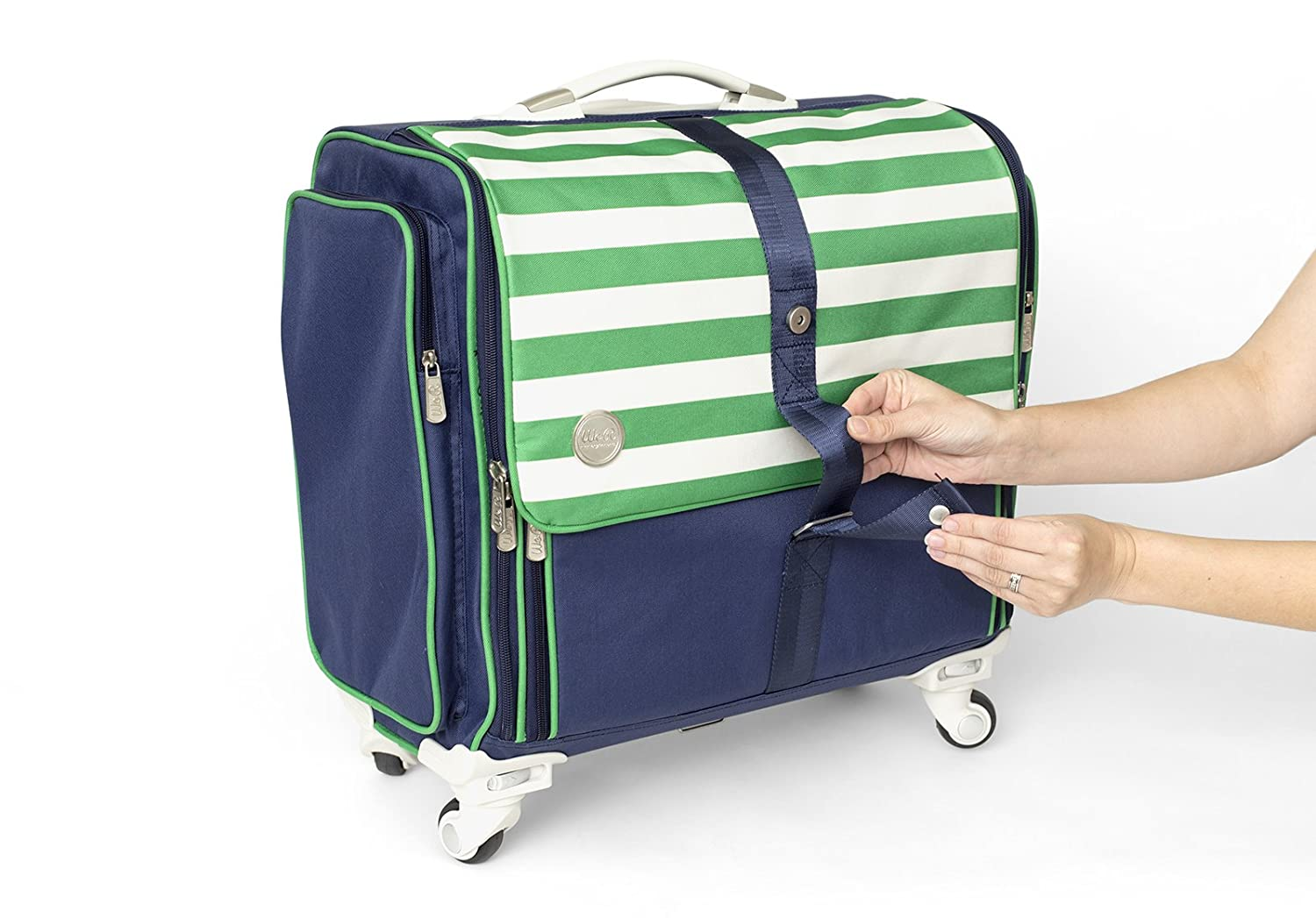 360-Degree Fold Up Crafter/'s Bag by We R Memory Keepers Navy /& Green