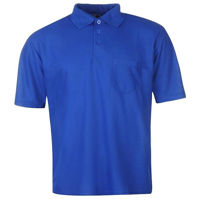 Donnay Hombre Camisa Polo Manga Corta con Bolsillo Azul Marino M ...