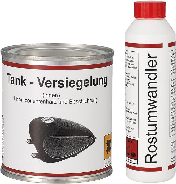 Wagner Spezialschmierstoffe Gmbh Co Kg Gmbh Co Kg Einkomponentenharz Tankversiegelung 250 Ml Rostumwandler Rostentferner Rostlöser 250 Ml Auto