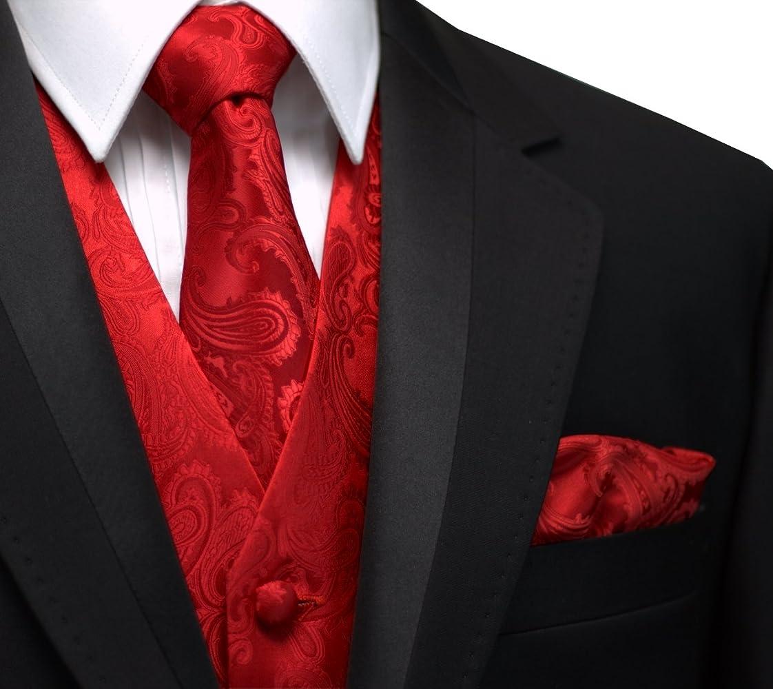 Diseño italiano, Hombres de esmoquin chaleco, corbata & Hankie Set ...
