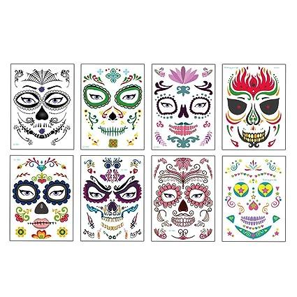 Lurrose 8 unids Pegatinas de Tatuaje de Ojo Temporales de ...