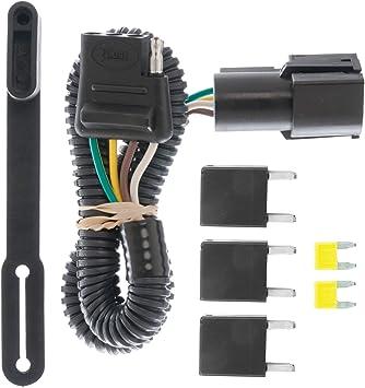 Amazon.com: CURT 56673 Vehicle-Side Custom 4-Pin Trailer Wiring Harness for  Select Ford Freestar, Mercury Monterey: AutomotiveAmazon.com