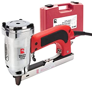 """ROBERTS 10-600 3/16"""" Crown, 120V, 15-Amp, 20 Gauge Electric Stapler with Carrying Case"""