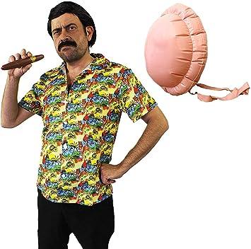 I LOVE FANCY DRESS LTD Disfraz DE Pablo Escobar - Camisa Hawaiana ...