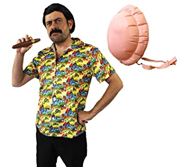 ILOVEFANCYDRESS Disfraz DE Pablo Escobar - Camisa Hawaiana ...