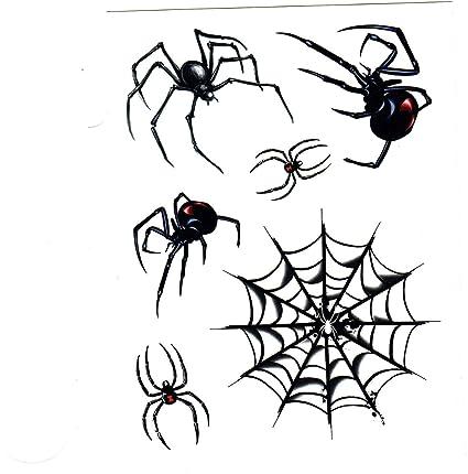 Amazon Com Spiders Black Widow Spider Web 6 Temporary