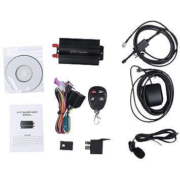 SODIAL(R) Localizador TK103B GSM / GPS SMS SOS alarma de coche con control remoto