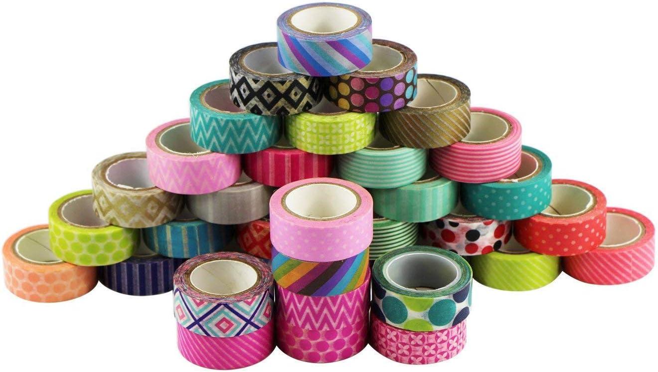 UOOOM 10 rotolo Tape decorative Washi Tape Nastri Adesivi Decorativi pattern-1