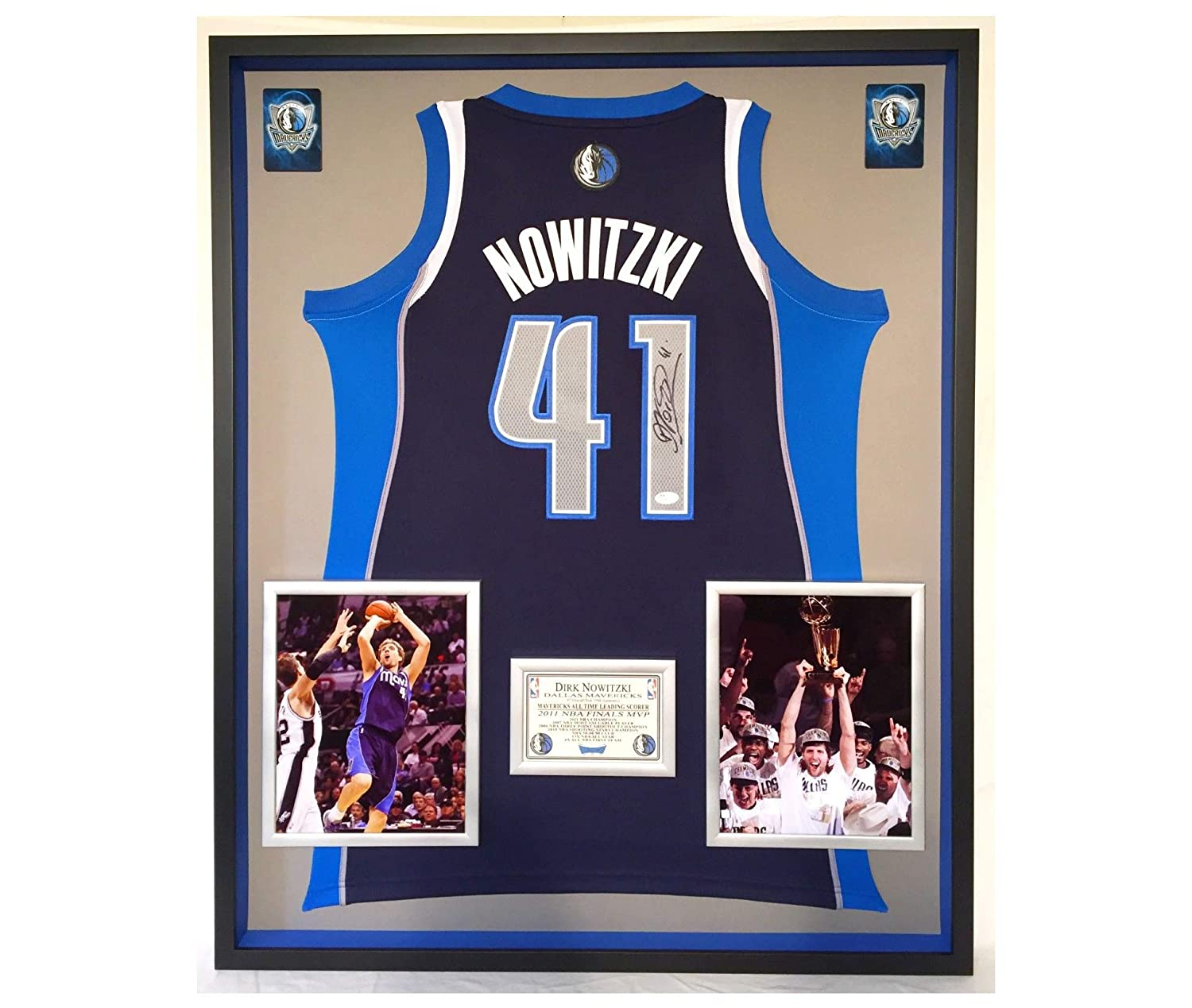 ... spain premium framed dirk nowitzki autographed signed dallas mavericks  adidas jersey jsa coa at amazons sports 1643dba21