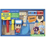 Melissa & Doug Deluxe Tool Belt Set - 5 Wooden Tools, 8 Building Pieces, Adjustable Belt