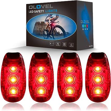 4 MODES Night Running LED Safety Light Clip Strobe Lamp Bicycle Warning Light