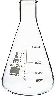 seoh erlenmeyer flask 5ml borosilicate glass pack of 6 amazon com