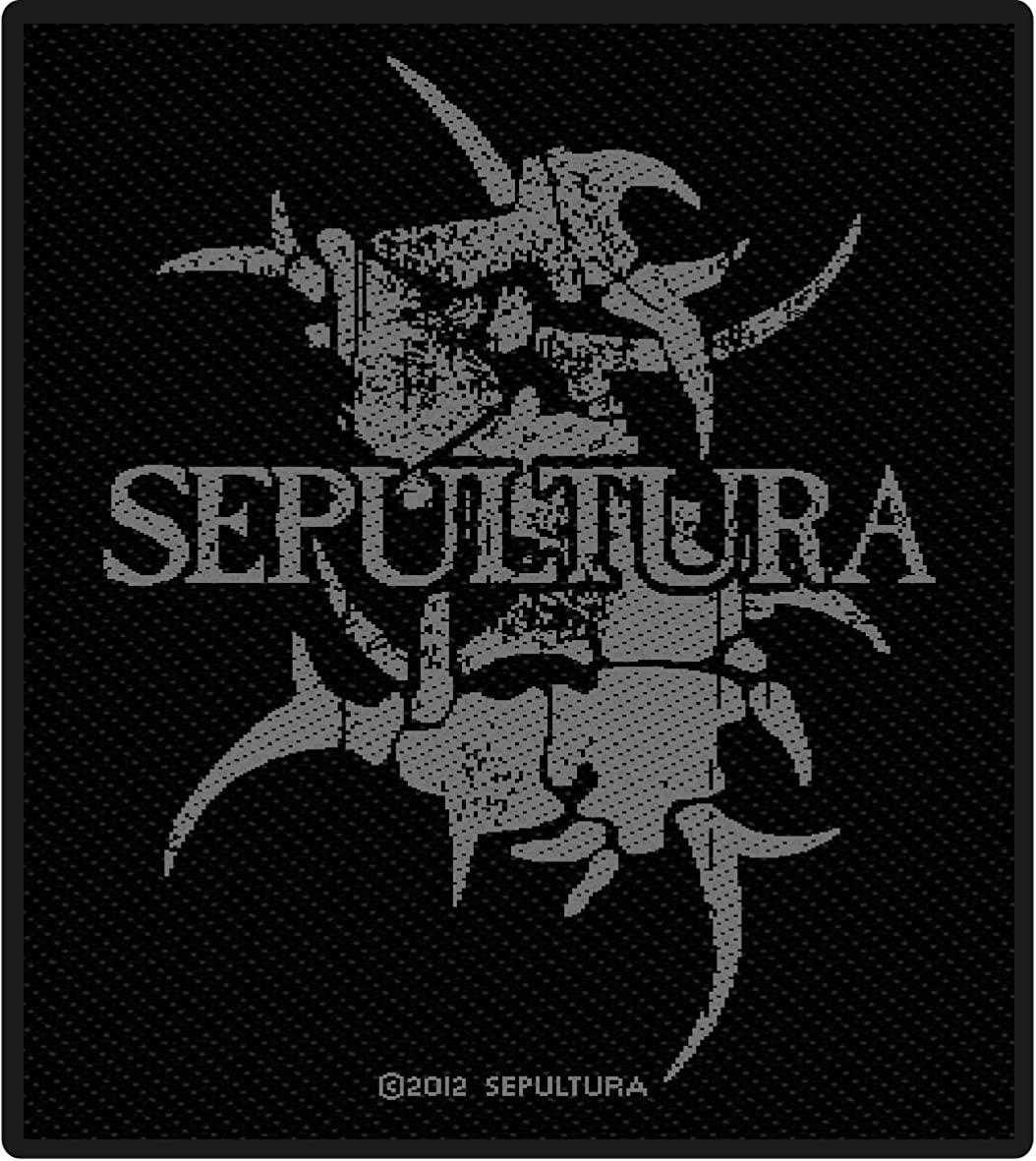 Sepultura Mens Logo Woven Patch Black