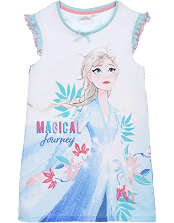 NEW Girls Disney Frozen ELSA-ANNA Summer Nightie 4-8yr ~UK~ Pyjamas//Night Dress