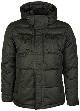 New Mens Coat Jack Jones Designer Zip Button Winter Jacket