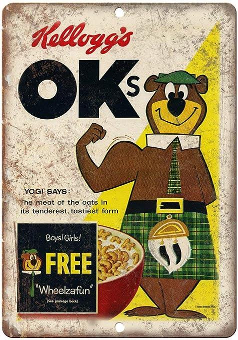 Jimoon Kelloggs Oks Caja de Cereales de Lata Vintage Metal Póster ...