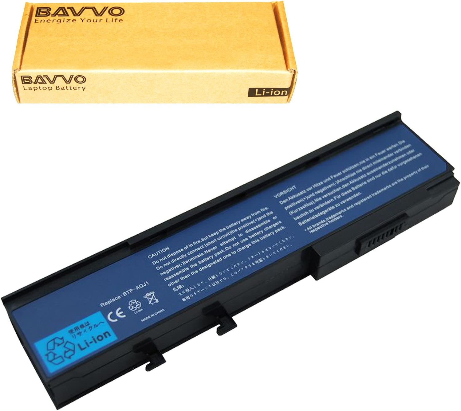 Bavvo Battery Compatible with Acer Extensa 4630z 4630 Aspire 2920Z 3623 3624 3641 5541 5542
