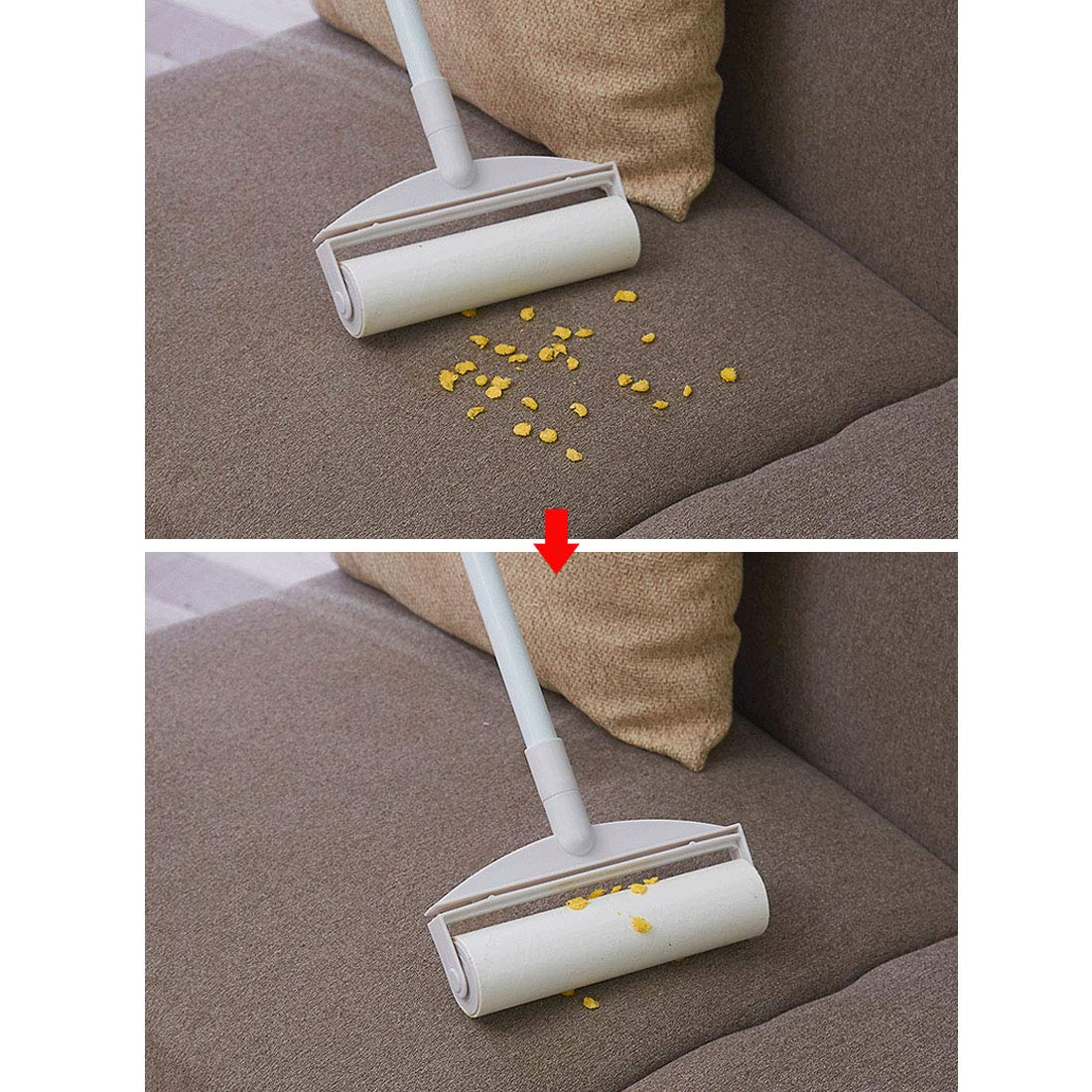 XINGYUE Lint Roller Pet Hair Lint Removers with Long Handle for Clothes Animal Car by XINGYUE (Image #7)