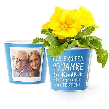 90geburtstag Geschenk Blumentopf ø16cm Deko