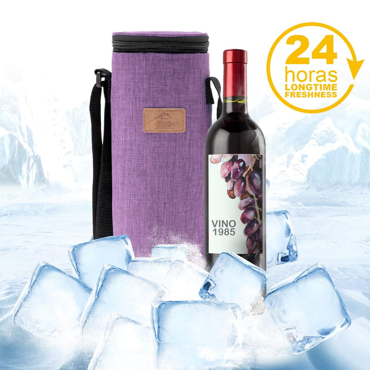 3 litros Azul Decocasa Bolsa T/érmica Porta Bebidas Enfriador de Botellas de Vino Agua Cava