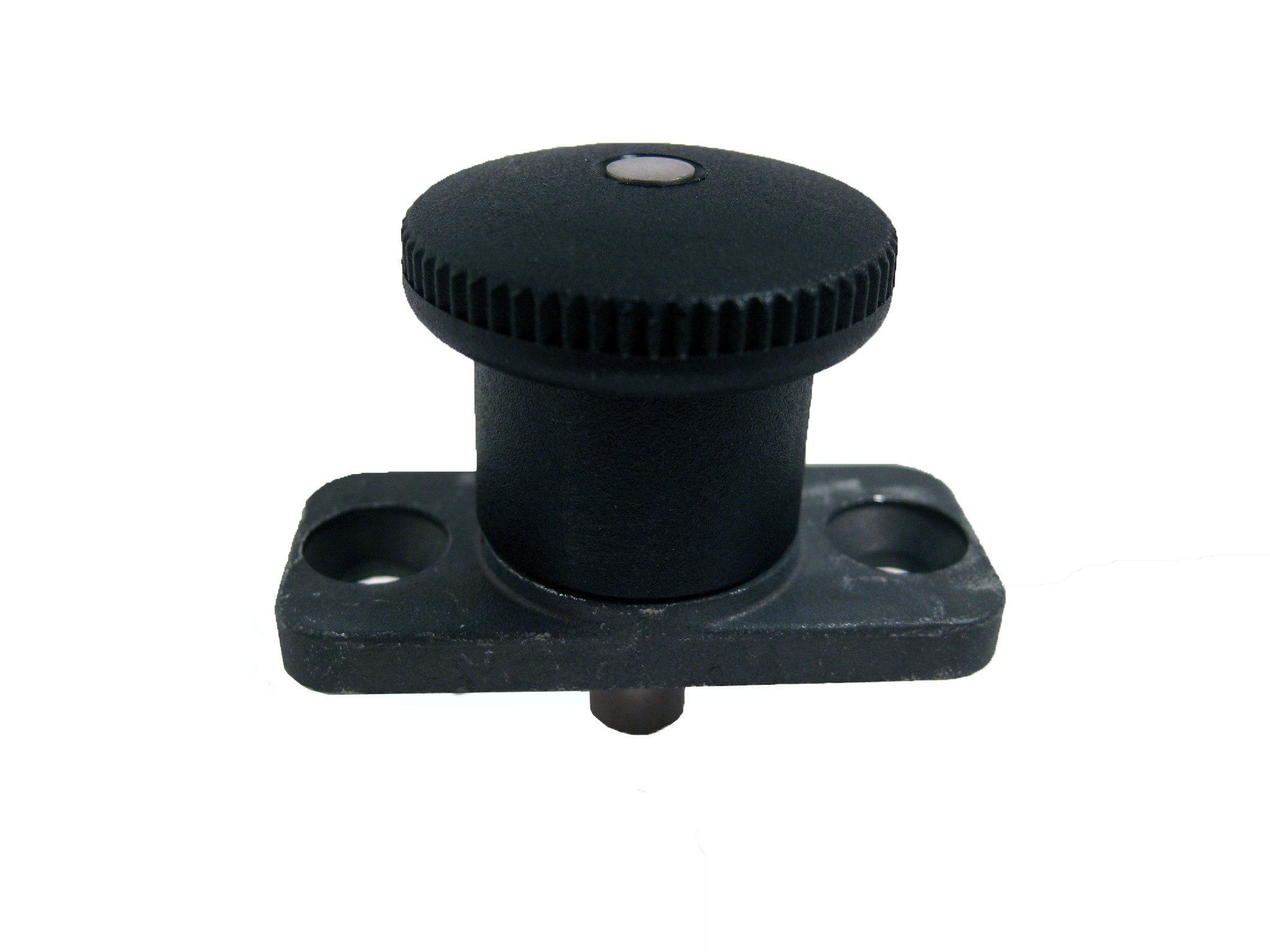 GN 822.8 Series Steel Lock-out Type C Metric Size Plate Mount Mini Indexing Plunger, 4mm Item Diameter, 10mm Retraction Length