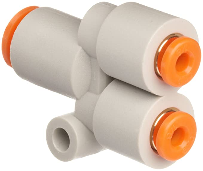 USA Sealing Push to Connect Tube Fitting 3//8 x 1//4 Tube OD Polybutylene Plastic Reducing Union Tee
