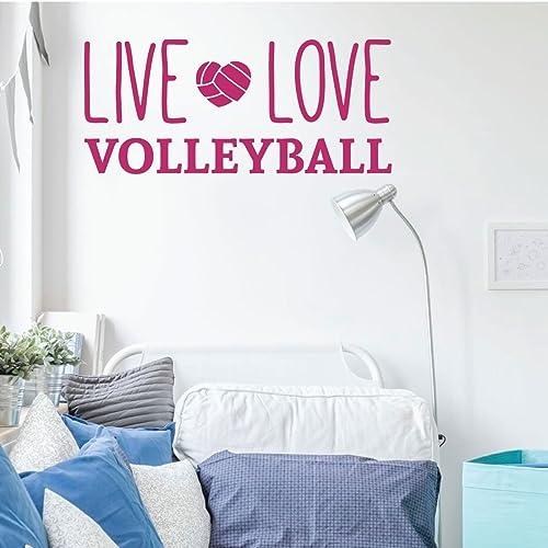 Pleasant Amazon Com Volleyball Wall Decal Live Love Vinyl Decor Download Free Architecture Designs Barepgrimeyleaguecom