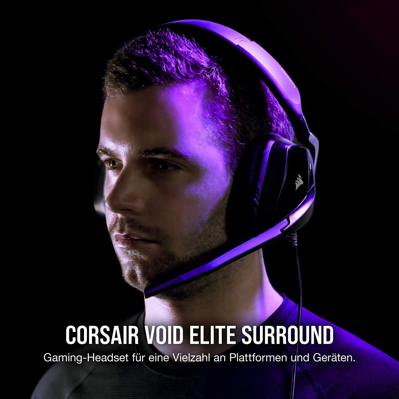 Corsair Void Elite Surround Gaming Headset Carbon Computers Accessories