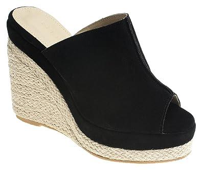 421ea7caaead7 Amazon.com | AnnaKastle Womens Faux Suede Espadrilles Wedge Mule | Shoes