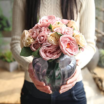 Amazoncom See Bello Artificial Flowers Fake Flowers Silk Roses 9