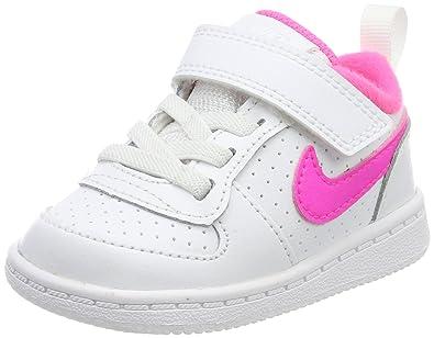 Nike Jungen Court Borough Low (PSV) Gymnastikschuhe, Elfenbein (White/Pink Blast), 30 EU