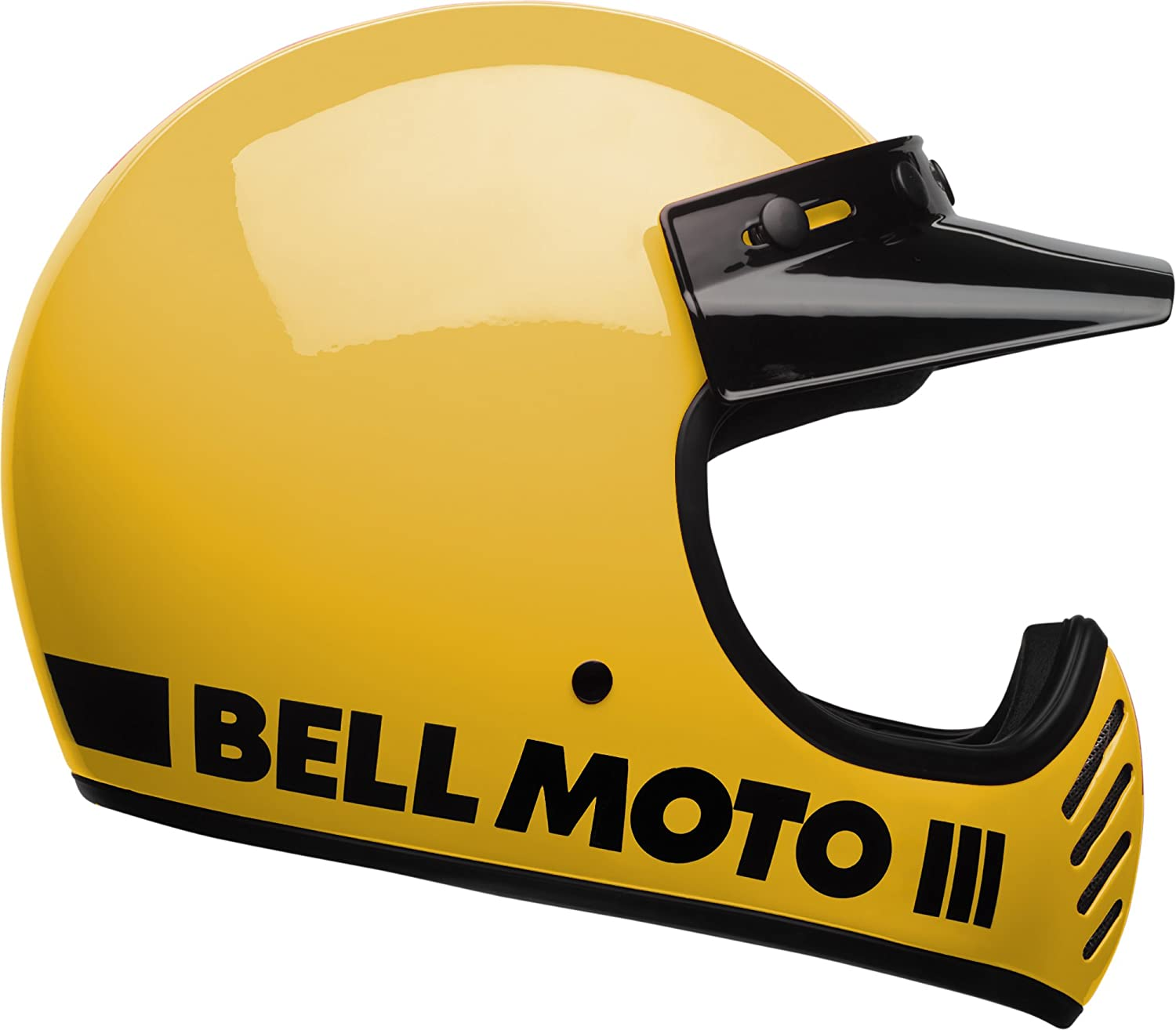 Amazon.com: Bell Moto-3 Off-Road Motorcycle Helmet (Classic Gloss Yellow, Large): Automotive