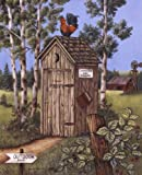 Outhouse - Rooster by Kay Lamb Shannon Art Print, 16 x 20 inches