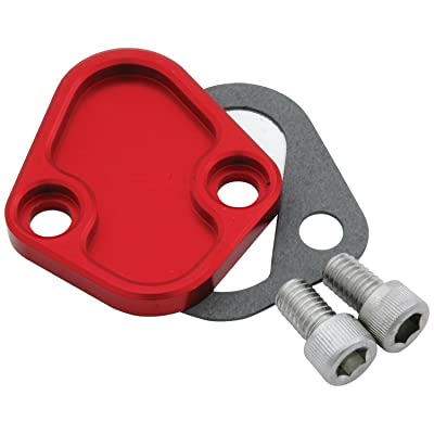 Allstar Performance ALL40305 Red Fuel Pump Block-Off Plate for BB Chevy: Automotive