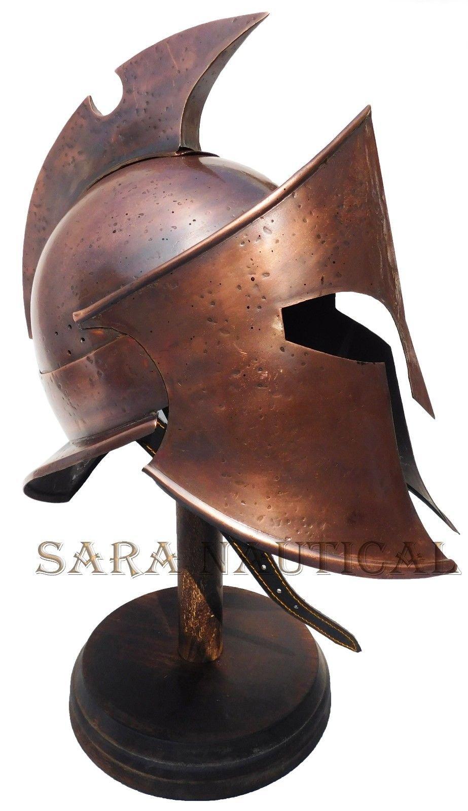 All Metal 300 Spartan Helmet Metal Collectible Decorative Antique Item Halloween Helmet by Expressions Enterprises (Image #1)