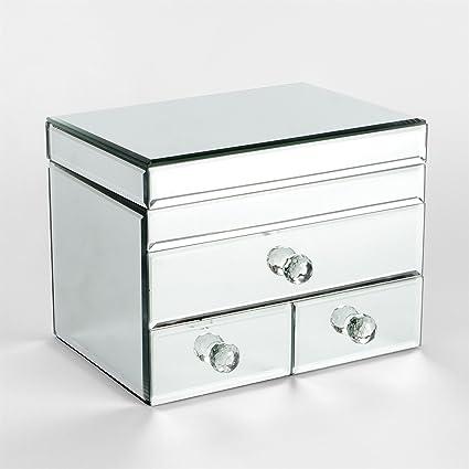 Sophia cristal de espejo 3 cajón joyería Caja: Amazon.es: Hogar