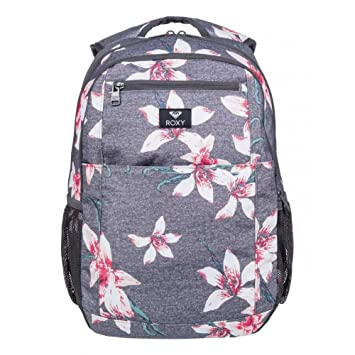 Roxy Here You Are Mochila Mediana, Mujer, Rosa/Gris (Charcoal Heather Flower Field), 23.5 l: Amazon.es: Deportes y aire libre
