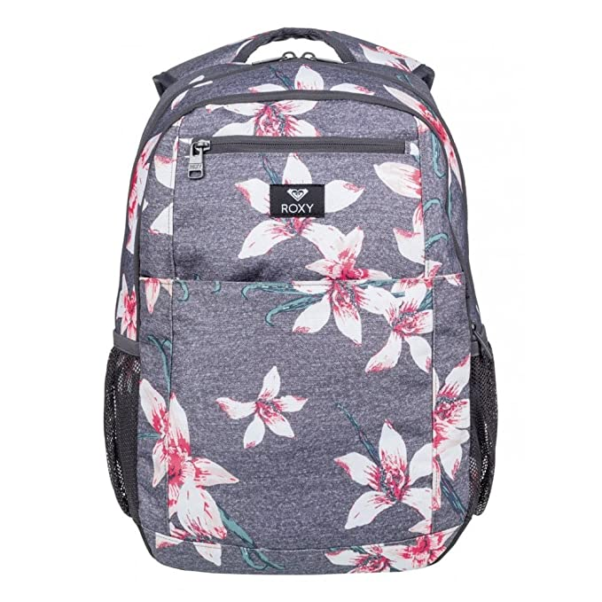 7af52e4451 ROXY Here You are Backpack Charcoal Heather Flower Field Schoolbag  ERJBP03745-KPG6 Roxy Bags  Amazon.ca  Clothing   Accessories