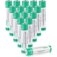 AAA Lithium Batteries(16 Pack) Enegitech 1.5v 1200mAh Non-rechargeale Battery Worked for Digital Cameras, Game Controllers, Toys, and Clocks AAA Battery