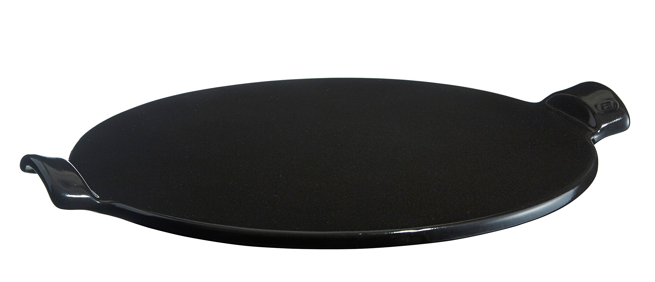 Emile Henry Made in France 14.5-Inch Flame Top Pizza Stone, Charcoal