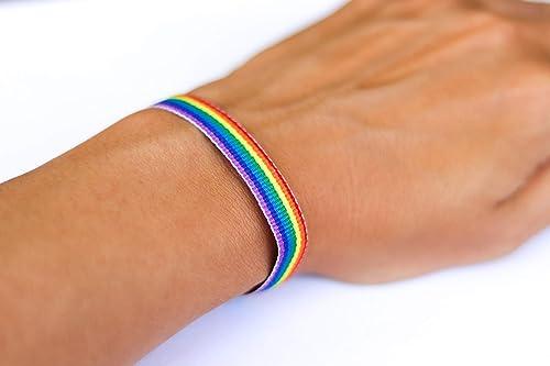 Rainbow Equality Sign Bracelet