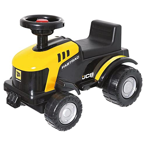 JCB Ride On Tractor Kids Yellow Foot To Floor Push Along Toy Baby Toddler