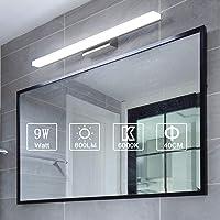 Yafido Aplique Espejo Baño Interior LED 40CM luz Baño Lámpara de Pared Espejo…
