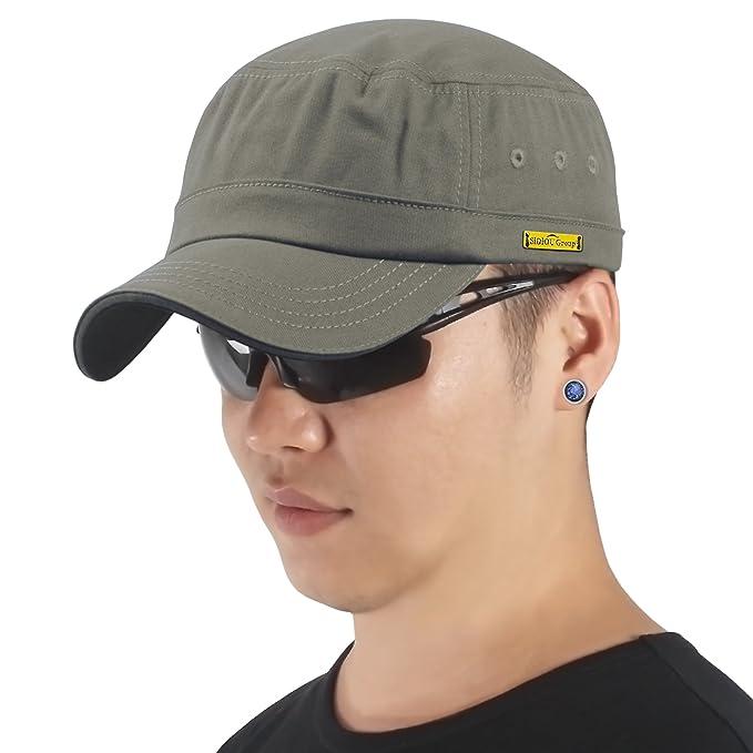 Sidiou Group Unisex Berretto Militare Cotone Cappello Baseball Regolabile  Cappelli Militari Uomo Cappello Militare Donna Cappello ... 260b061c77f7