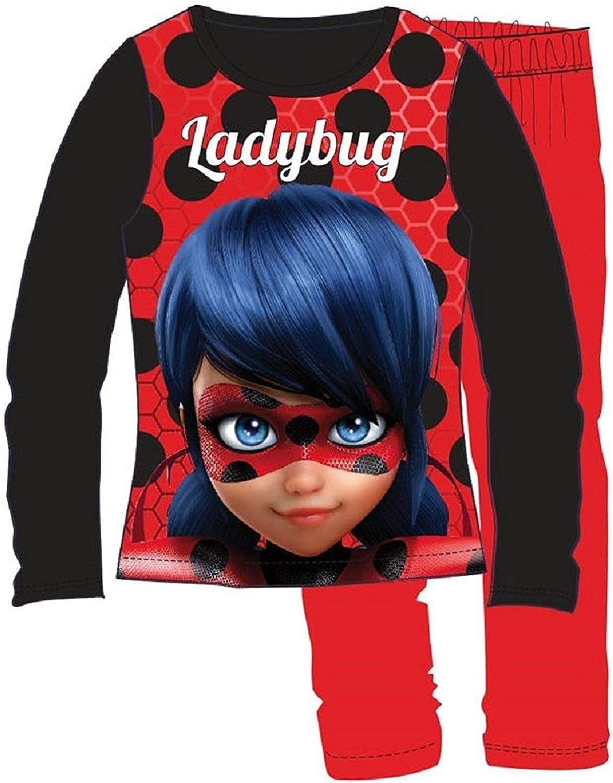 Ladybug - Pijama - para niña rojo Talla Del Vestido 10 Años ...