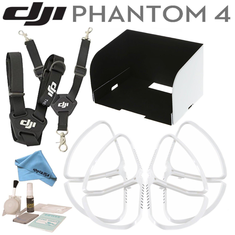 DJIファントム4アクセサリーバンドル: Includes Phantom 4プロペラガード、リモートコントローラーモニタフード、リモートコントローラストラップ、ブラシBlower、クリーニングキット& edigitalusaマイクロファイバークリーニングクロス   B01FE9GRYO