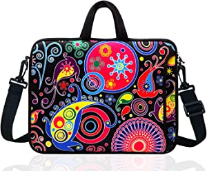"TAIDY 17 to 17.3-Inch Neoprene Laptop Shoulder Bag Sleeve Case for 17""- 17.3"" MacBook/Ultrabook/HP/Acer/Asus/Lenovo (Classic Colourful)"