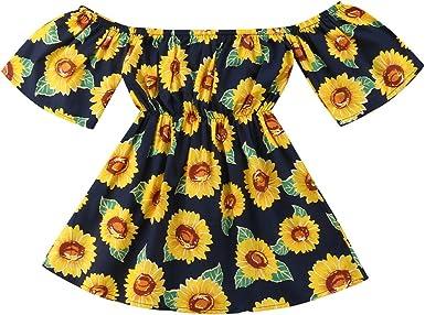 Baby Box Baby Girls Sunflower Printed Sleeveless Infant Halter Slip Dress